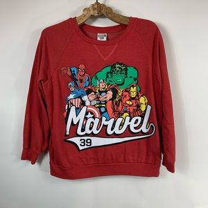 Marvel Sweatshirt Red with front graphic Sz Large